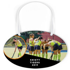 Field Hockey Oval Sign - Team and Player Photo