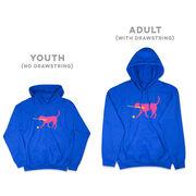 Softball Hooded Sweatshirt - Mitts the Softball Dog