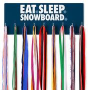 Snowboarding Hooked on Medals Hanger - Eat Sleep Snowboard