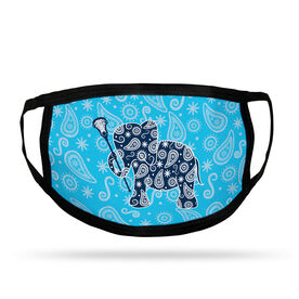 Girls Lacrosse Adult Face Mask - Lax Elephant
