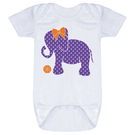 Basketball Baby One-Piece - Basketball Elephant with Bow