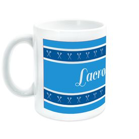 Lacrosse Coffee Mug Mom with Stripes