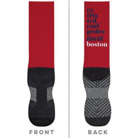 Baseball Printed Mid-Calf Socks - Mantra Boston