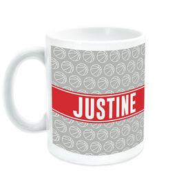 Basketball Coffee Mug Personalized Ball Pattern