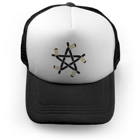 Hockey Trucker Hat Stick Star
