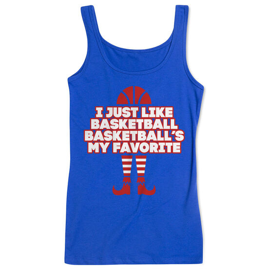 Basketball Women's Athletic Tank Top - Basketball's My Favorite
