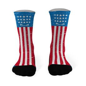 Lacrosse Printed Mid Calf Socks USA Stars and Stripes