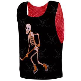 Hockey Pinnie - Halloween Skeleton