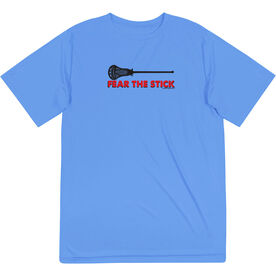 Guys Lacrosse Short Sleeve Performance Tee - Fear The Stick
