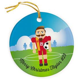 Soccer Porcelain Ornament Nutcracker