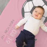 Soccer Baby Blanket - Birth Announcement