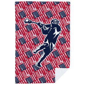 Guys Lacrosse Premium Blanket - USA Lax Player