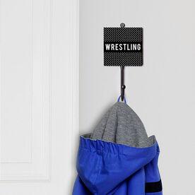 Wrestling Medal Hook - Wrestling Gridiron Pattern