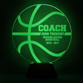 Basketball Acrylic LED Lamp Coach With 4 Lines