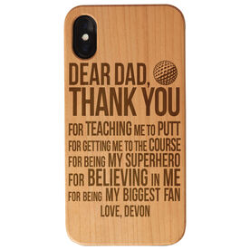 Golf Engraved Wood IPhone® Case - Dear Dad
