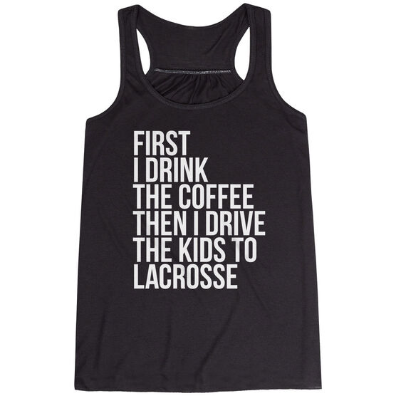 Lacrosse Flowy Racerback Tank Top - Then I Drive The Kids To Lacrosse