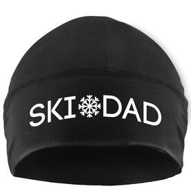 Skiing Beanie Performance Hat - Ski Dad with Snowflake