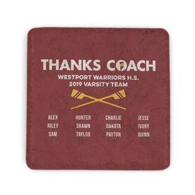 Crew Stone Coaster - Thanks Coach Roster