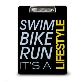 Triathlon Custom Clipboard Swim Bike Run Lifestyle