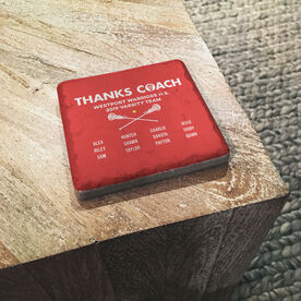 Girls Lacrosse Stone Coaster - Thanks Coach Roster