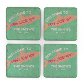 Fly Fishing Stone Coasters Set of Four - Welcome To Custom With Location