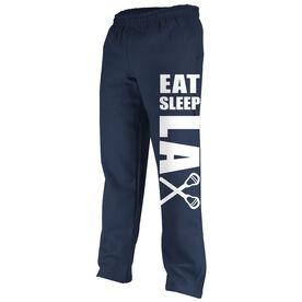 Lacrosse Fleece Sweatpants Eat Sleep Lax