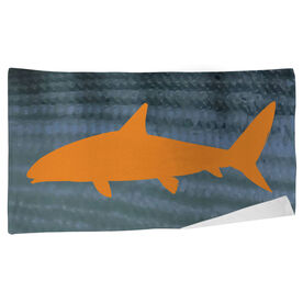 Fly Fishing Beach Towel Bonefish with Silhouette