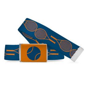 Tennis Lifestyle Belt Racket Pattern