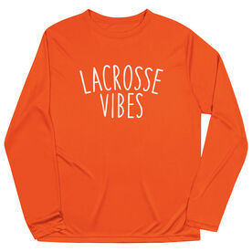 Girls Lacrosse Long Sleeve Performance Tee - Lacrosse Vibes