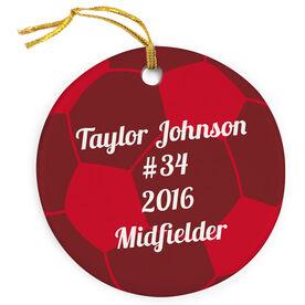 Soccer Porcelain Ornament Christmas Ball