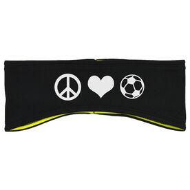 Soccer Reversible Performance Headband Peace Love Soccer