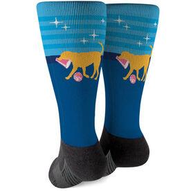 Cheerleading Printed Mid-Calf Socks - Coco The Cheer Dog