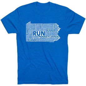 Running Short Sleeve T-Shirt - Pennsylvania State Runner