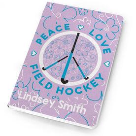 Field Hockey Notebook Peace Love Field Hockey Flowers