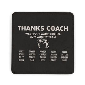 Wrestling Stone Coaster - Thanks Coach Roster