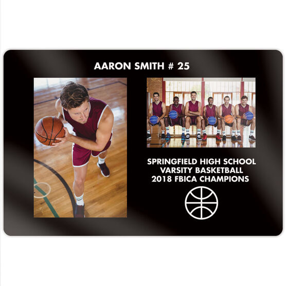 """Basketball 18"""" X 12"""" Aluminum Room Sign - Player and Team Photo"""