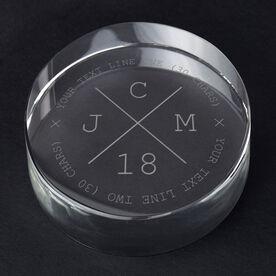 Personalized Engraved Crystal Gift - Stylish Monogram
