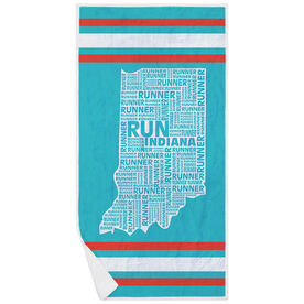Running Premium Beach Towel - Indiana State Runner