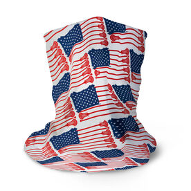 Guys Lacrosse Multifunctional Headwear - American Flag Sticks Pattern RokBAND