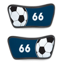 Soccer Repwell™ Sandal Straps - Ball and Number Reflected
