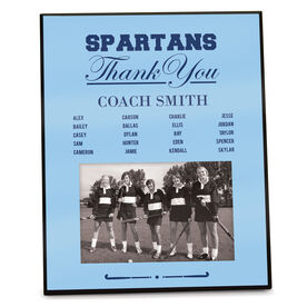 Field Hockey Photo Frame Thank You Coach Roster