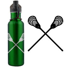 Lacrosse Sticks (M) 24 oz Stainless Steel Water Bottle