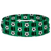 Soccer Multifunctional Headwear - Custom Team Number Repeat RokBAND
