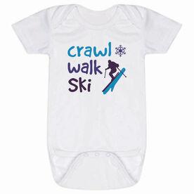 Skiing Baby One-Piece - Crawl Walk Ski