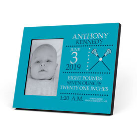 Guys Lacrosse Photo Frame - Birth Announcement