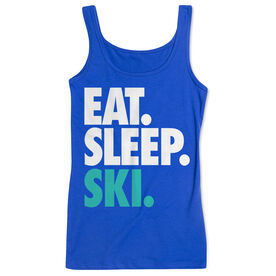 Skiing & Snowboarding Women's Athletic Tank Top Eat. Sleep. Ski.