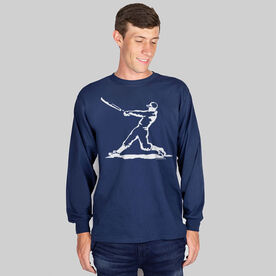 Baseball Tshirt Long Sleeve Baseball Player
