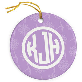 Gymnastics Porcelain Ornament Personalized Monogram