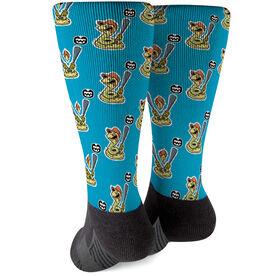 Seams Wild Baseball Printed Mid-Calf Socks - Rattleshake (Pattern)