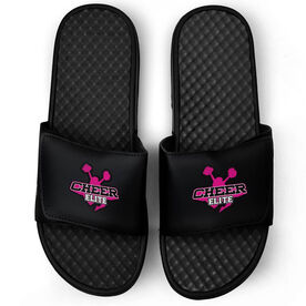 Cheerleading Black Slide Sandals - Your Logo